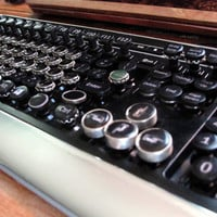 "Steampunk computer keyboard ""Deco Writer"""