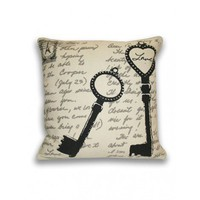 Sarah Key Postcard Pillow