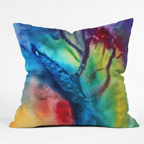 DENY Designs Home Accessories | Madart Inc. The Beauty Of Color 3 Throw Pillow