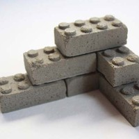 Fun Reminders of Childhood: Concrete Building Blocks