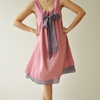 Bow...Pink Cotton dress