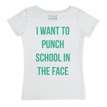 I Want to Punch School in the Face-Unisex Snow T-Shirt