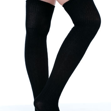Knit Over It Thigh High Socks