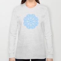 Winterland Blue Long Sleeve T-shirts by Lisa Argyropoulos