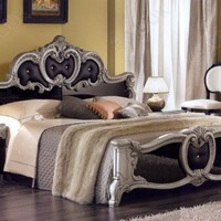 Camel Group - Camel Group Barocco Black Finish Italian Bed