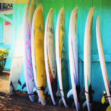 surfboards Art Print by Sylvia Cook Photography