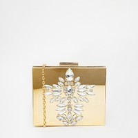 Skinnydip Gold Embellished Clutch Bag