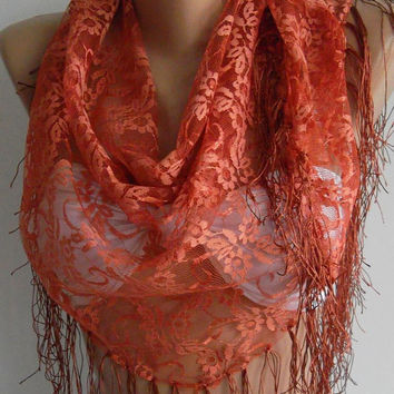 Scarf Copper Color.Scarf -Shawl