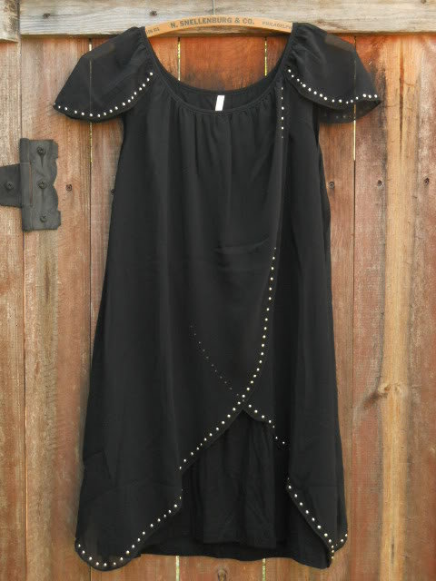 Little Black Tulip Cocktail Dress [1407] - $34.00 : Vintage Inspired Clothing & Affordable Summer Dresses, deloom | Modern. Vintage. Crafted.