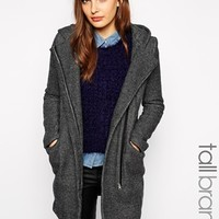 New Look Tall Check Duffle Coat