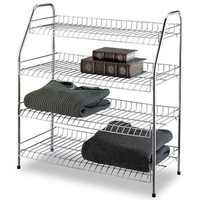 OIA Four Tier Storage Shelf in Chrome