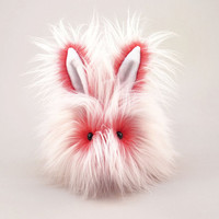 Reserved for Casey Stuffed Animal Cute Plush Toy Bunny Kawaii Plushie Red Fizz the Snuggly Cuddly Faux Fur Bunny Rabbit Large 6x10 Inches