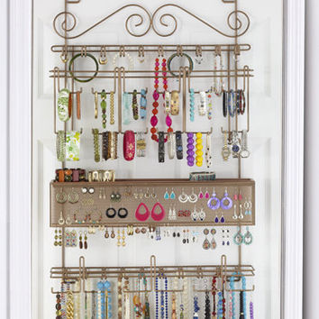 The Longstem Women's Over the Door Jewelry Organizer (Bronze)