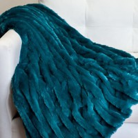 Lazo Throw - Peacock | Throws | Bedding & Pillows | Z Gallerie