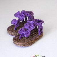 Baby Crochet Bow Sandals on Luulla