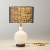 Bond Opal Glass Table Lamp &amp; Fabric Shade | Schoolhouse Electric &amp; Supply Co.