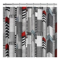 Marimekko Ruutukaava Shower Curtain | Crate&Barrel