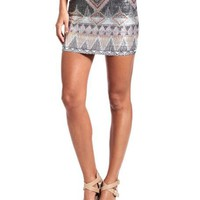 Aztec Print Sequin Skirt: Charlotte Russe