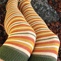 Socks By Sock Dreams  » Socks » Brigid Striped Over the Knee
