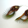 Handmade Feather Earrings Bohemian Brown and Green by donaarg