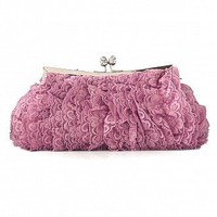 [$18.86 ] Lovely Pink Floral Lace Evening Handbags/ Clutches - Dressilyme.com