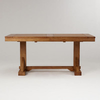 Antique Honey Verona Trestle Table | World Market