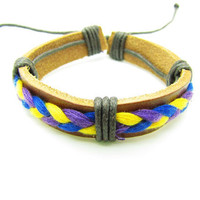 fashion Adjustable Leather Bracelet Woven Bracelets mens bracelet cool bracelet jewelry bracelet bangle bracelet  cuff bracelet 1047S