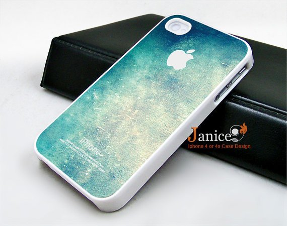 iphone 4 case iphone 4s case iphone 4 cover  call phone case beautiful blue colors wall texture unique Iphone case