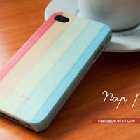 iphone 4 case iphone 4s case , case for Iphone 4 Blackberry mobile Case handmade: soft colorful background pattern