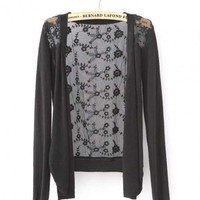 Black Long-sleeved with Lace Back Sweater$35.00
