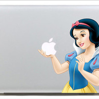 snow white----Mac decals Macbook sticker Macbook pro decal Macbook air decal Aappl decal sticker