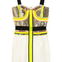 Sass & bide | Stripe Effect embellished silk-blend dress | NET-A-PORTER.COM