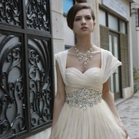 Beautiful high quality CHAMPAGNE  Chiffon tulle by khcfdesign
