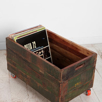 Vintage Wood Rolling Cart