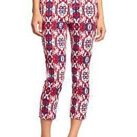 "Women's Bold-Pattern Twill Capris (24"") 