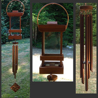 Bird Feeder, Wind Chime, Windchimes, Wind Chimes, Deluxe Bird Feeder