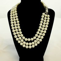 Browsing Store - Kenneth Jay Lane 3 Row 10 mm Pearl Necklace