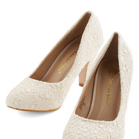ModCloth I'm Sew Excited Heel in Ivory