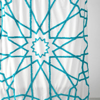 Tufted Medallion Shower Curtain