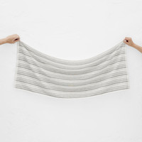 Totokaelo - Yoshii White/Black Broken Shirt Stripe Towel - $38.00