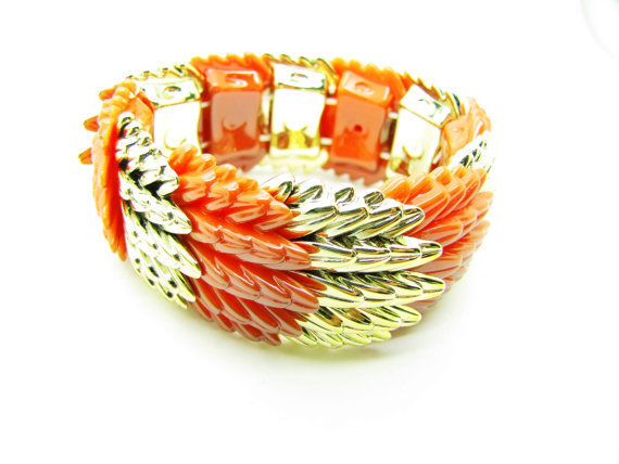 Adjustable Bracelet Rubber Orange Bracelet Cool Bracelet Mens Bracelets unisex Bracelet Womens Bracelet 1056S