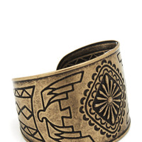 aztec-cuff-bracelet GOLD SILVER - GoJane.com