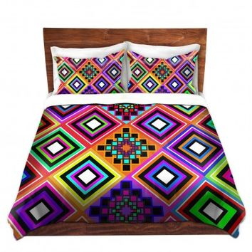 Duvet Covers and Shams Unique Decorative Designer | Organic Saturation's Fiesta Native Inspired