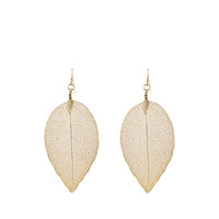 Dipped Leaf Earrings | Gold | Accessorize