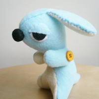 Dog Stuffed Animal - Sleepy puppy - Handmade Felt Stuffie