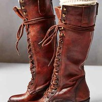 FREEBIRD By Steven Grany Lace-Up Tall Boot-