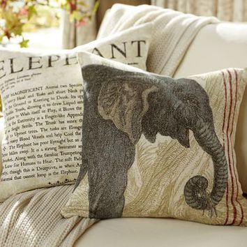Elephant Cafe Pillow Cover