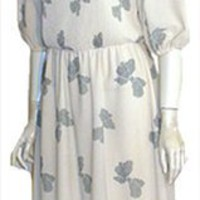 70s Cream Vintage Clothing Dress
