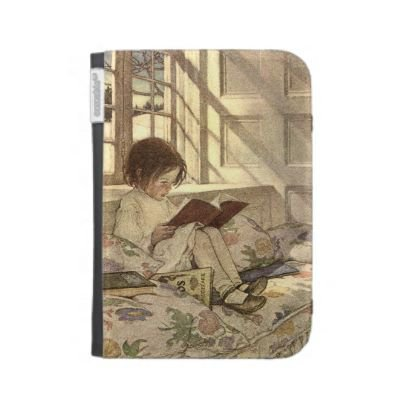 Vintage Child Reading a Book, Jessie Willcox Smith Case For The Kindle from Zazzle.com