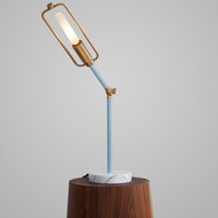 Brass Flexible Desk Lamp w/ Marble Base
